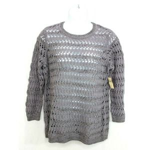 Coldwater Creek Size 2X Open Knit Sweater